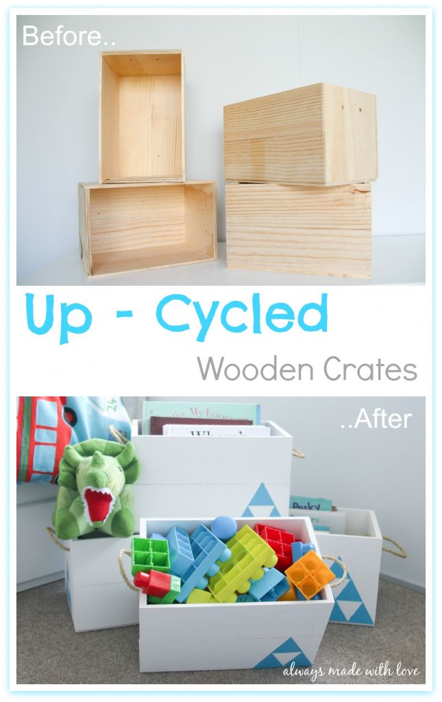 From boring wooden crates to a bright, fun storage solution