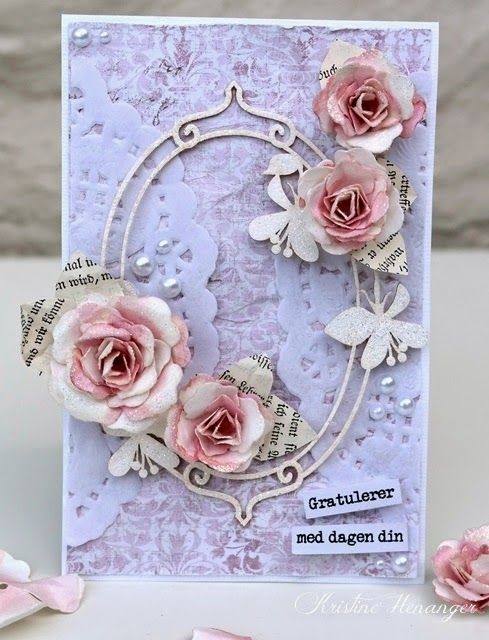 DT KREATIV SCRAPPING.NO - MAJA DESIGN CARD - BY KRISTINE HENANGER