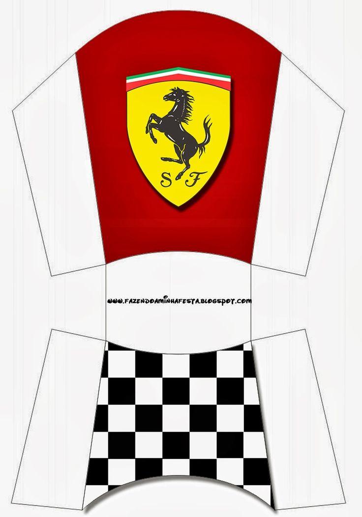 Ferrari: Free Printable Boxes.                                                                                                                                                                                 More