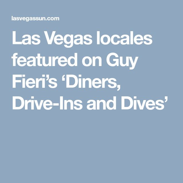 Las Vegas locales featured on Guy Fieri's 'Diners, Drive-Ins and Dives'