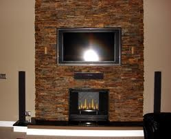 Stacked Stone Fireplace Designs A Little Before And After With My New    Stacked Stone Fireplace Designs