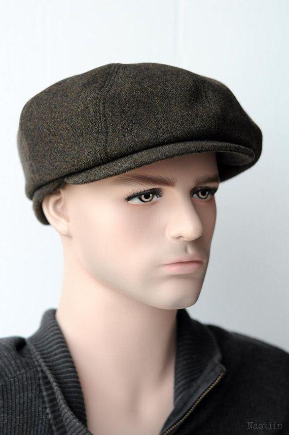 Mens newspaper boy hat Wool newsboy cap Khaki newsboy hat Womens newsie hat  Driver hat Baker boy hat cdf9332780