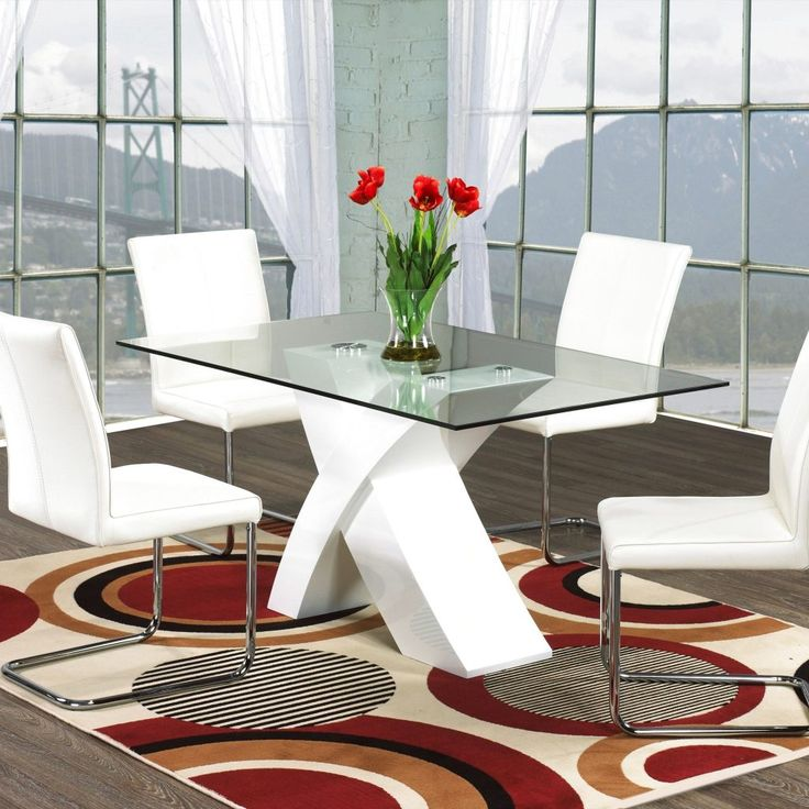 Red And White Kitchen Table Set