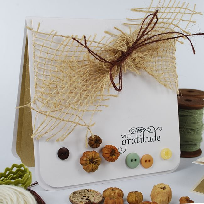An autumn colour palette & 'With Gratitude' sentiment from 'Thank You' Sentiments.