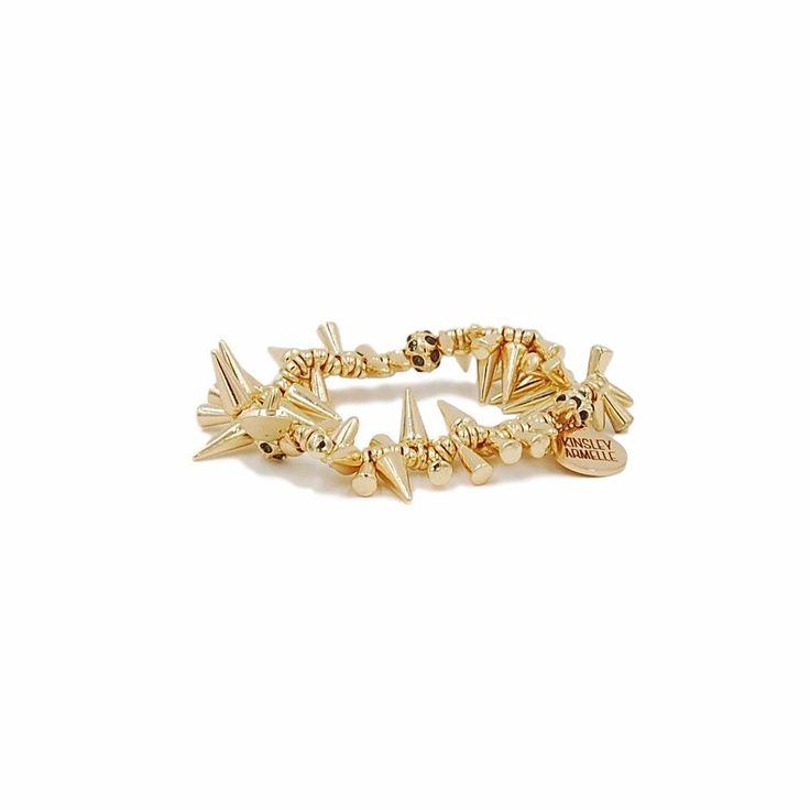Kinsley Armelle Gold Party Spike Bracelet