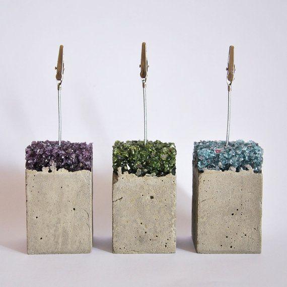 Cadres photo de ciment et de verre par MicaRicaShop sur Etsy