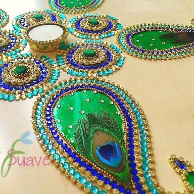 Suave Kundan Rangoli  Our Original Design  For order Whatsapp us @9560115450