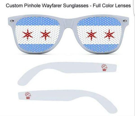 *Show your Chicago pride with these novelty sunglasses featuring the Chicago city flag! *Perfect for sports events, concerts, musicfests & representing the Chi when traveling! *Come pre-assembled