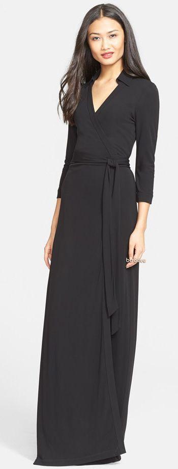 Diane von Furstenberg 'Abigail' Maxi Wrap Dress