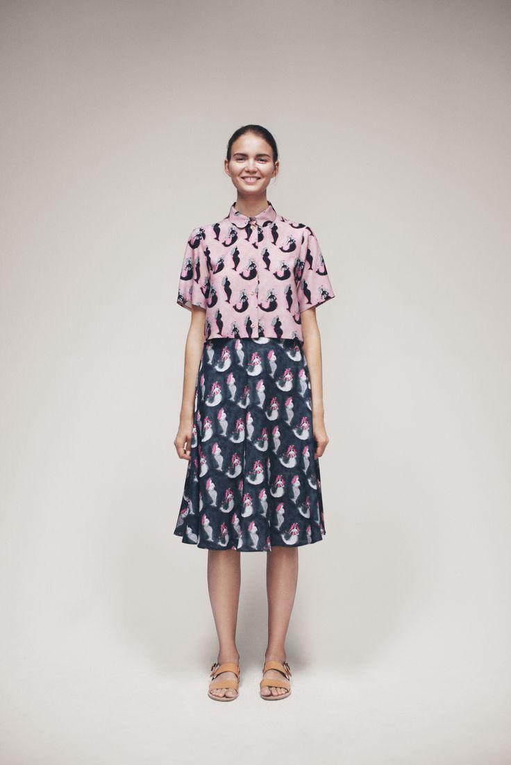 Kirkkis Shirt and Kirkes Skirt   Samuji SS15 Seasonal Collection