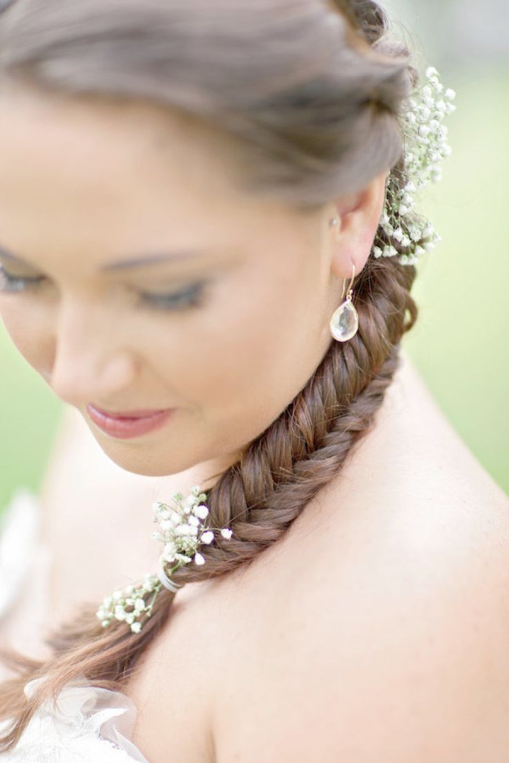 Floral fishtail: http://www.stylemepretty.com/2014/05/15/20-fresh-flower-hairstyles-for-spring-summer/