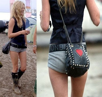 WELLIES WORN WELL - classic look - Glastonbury Outfit  by #Kate #Moss can inspired #Coachella style