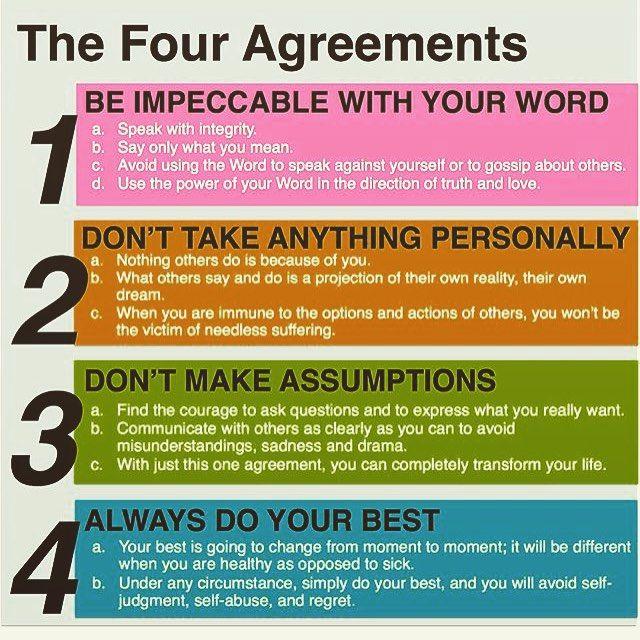 65 Bästa Idéerna Om 5 Agreements På Pinterest