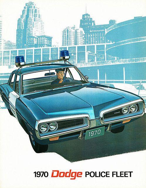 Vintage Police Car Brochures, 1970 Dodge fleet vehicles.