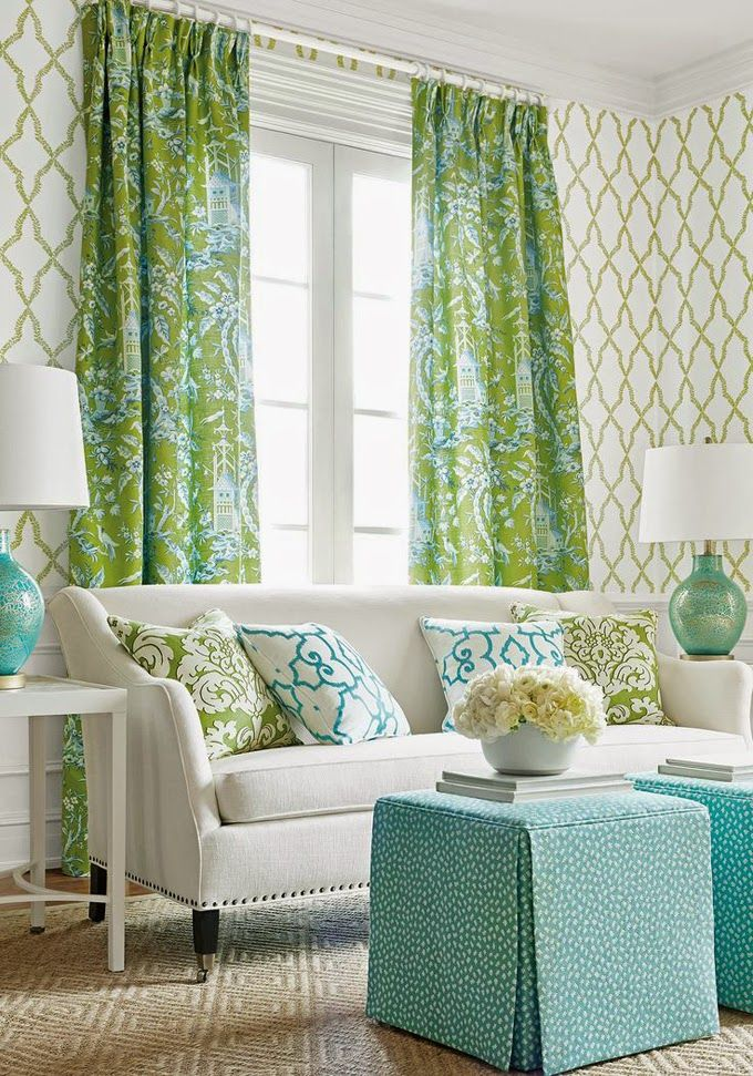Pagoda Print Trellis Wallpaper Thibaut Green And White With Aqua