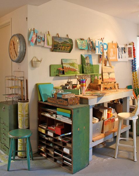 Susan Neil's studio (featured in the Aug/Sep/Oct '13 issue of Where Women Create…