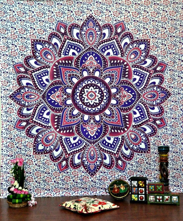 Mesmerizing medallion tapestry crafted in soft woven cotton. Instantly adds a unique touch of boho charm to any living space or dorm room. Doubles as a beach or picnic blanket and is festival-friendly More