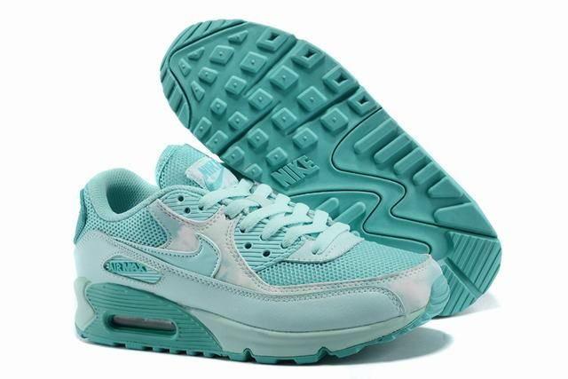 chaussure air max femme pas cher, Chaussure 90 Femme vert