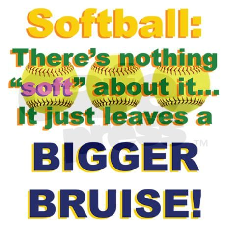 Softballs may hurt, but I'd rather be playing it then being at home on the couch like a bum.⚾