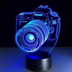 Yeduo Novelty 3D Acrylic Entertainment Camera Illusion Led Lamp Usb Table Light Rgb Night Light Romantic Bedside Decortion Lamp - COLORMIX Mobile