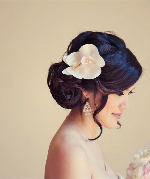 20 tipos de coque com franja - Penteado noiva