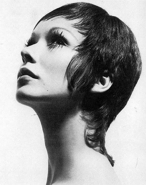 Maudie James with a short haircut, 1960s.    tapered hair in back very sign of the times.
