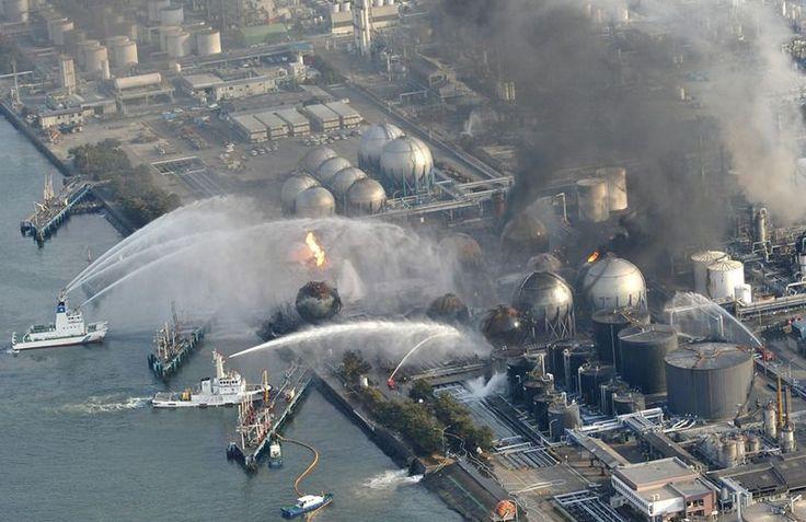 Pożar w japońskiej rafinerii.