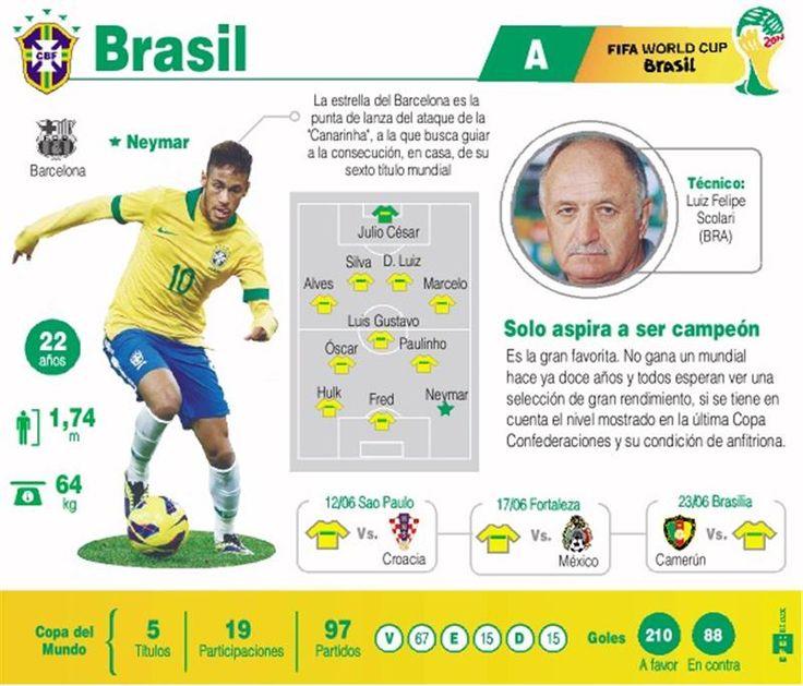 Mundial 2014: lo que hay que saber de cada selección