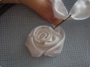 Rose ribbon embroidery step by step tutorial by annes.attic.33