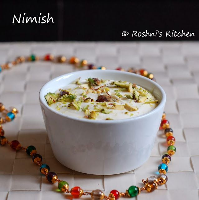 Nimish - A Rich Creamy Dessert! Awadhi Cuisine Awadhi Cuisine originates from Lucknow in the Northern India. It is the cuisine of the Nawabs and hence rich in its variety and taste. Popular dishes from this cuisine include Biriyani and Kebabs. The Nawabs brought chefs from as far as Persia to cook in the royal kitchens and so you will see a lot of Middle Eastern influence in this Cuisine. - Gluten Free, contains dairy