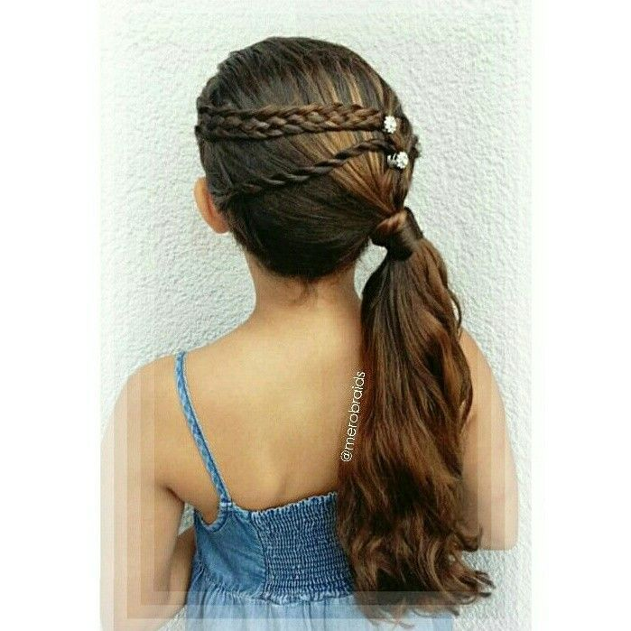 Side ponytail with braided accents