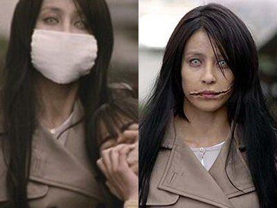 Kuchisake Onna, the Slit Mouth Woman. Japanese legend. Do you think I'm beautiful?