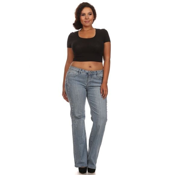 Blue plus size boot cut jeans Blue plus size boot cut jeans available in size 13 & 15 Jeans Boot Cut
