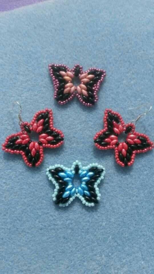 Superduo butterflies PDF tutorial pattern by JewelsByAldona