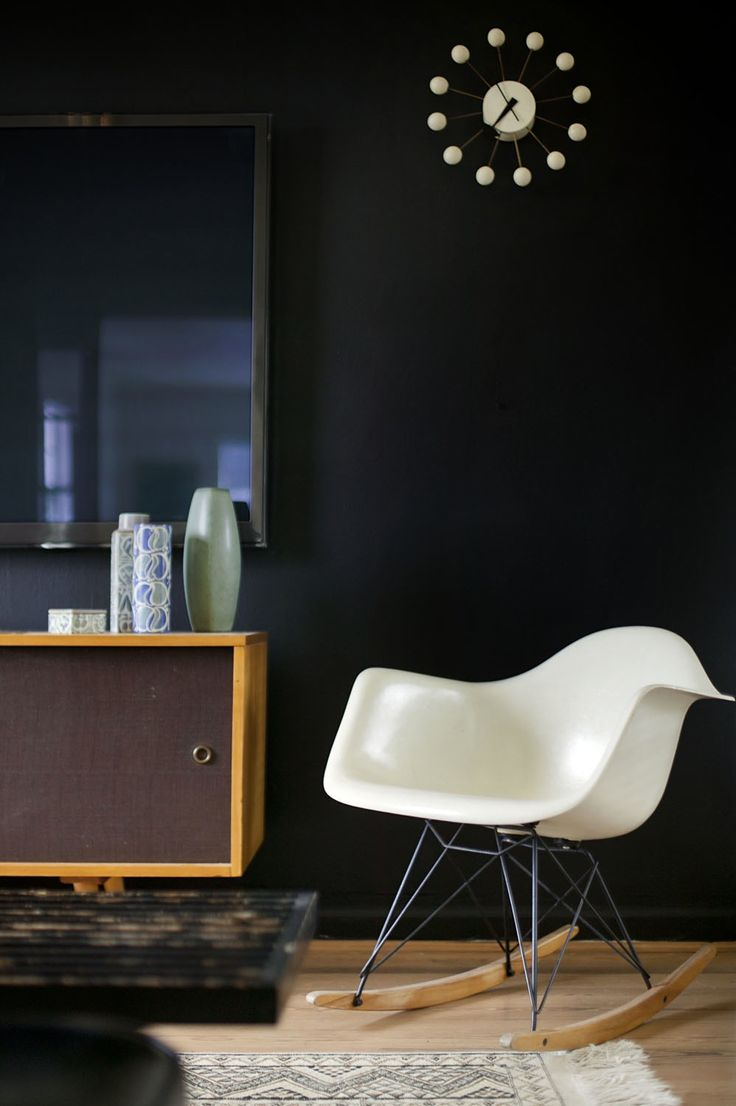 Schaukelstuhl swing insp eames rocking chair rar ahorn - Black Wall Eames Rocking Chair Sideboard