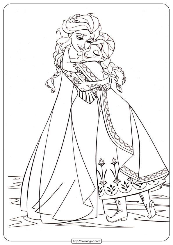 Disney Frozen Anna And Elsa Pdf Coloring Pages In 2020 Elsa Coloring Pages Princess Coloring Pages Frozen Coloring