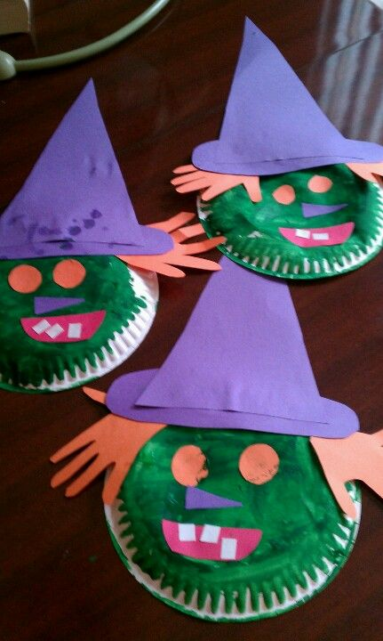 Paper plate witches
