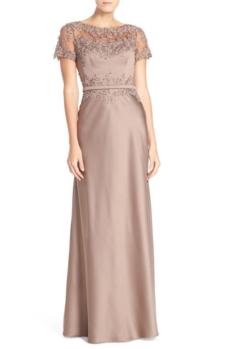 AQUA Lace Peplum Bodice Gown | Bloomingdale\'s | clothes | Pinterest ...