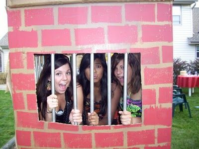 Party foulers must go to jail or just take a picture in the slammer for fun! This party will be epic! For my criminal justice majors