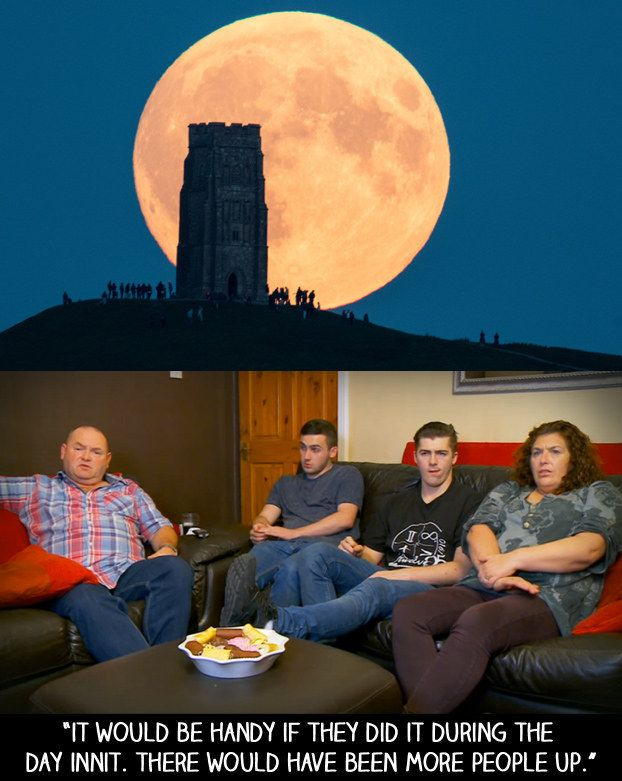 """When the super blood moon happened at night. 