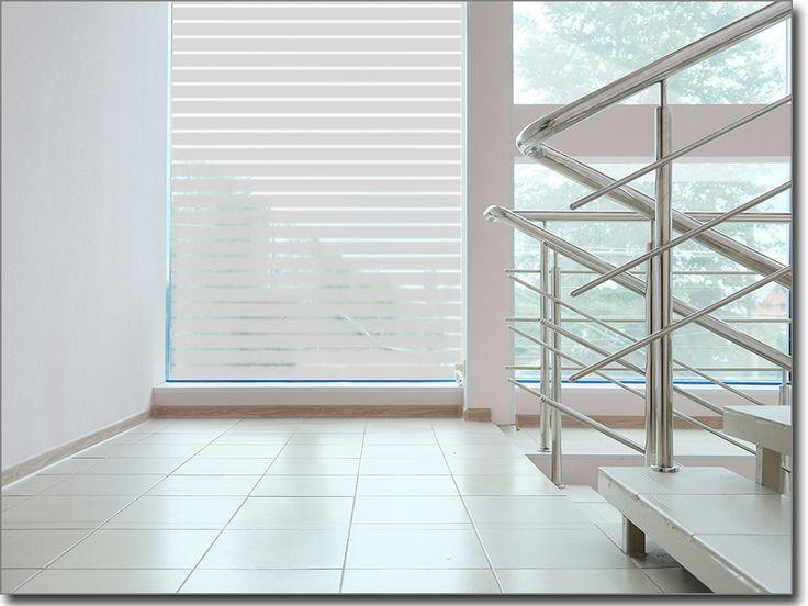 Fensterfolie Streifen als Sichtschutz