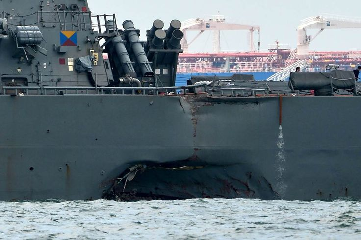 The collision is the fourth in a year involving a U.S. Navy vessel. Chief of Naval Operations Adm. John Richardson announced Monday that Navy operations would be paused around the world and a full safety review ordered. http://www.nbcnews.com/news/world/uss-john-s-mccain-divers-search-10-missing-sailors-after-n794766?cid=eml_nbn_20170822