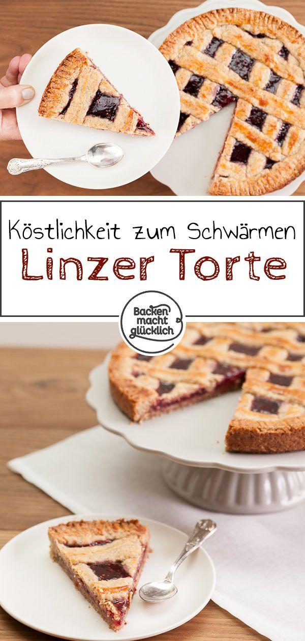Linzer Torte Linzer Schnitten Rezept Linzertorte Backen Und Backen Macht Glucklich