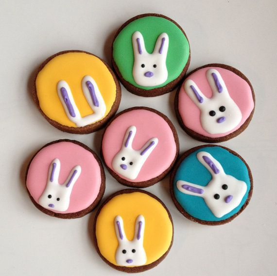 Peeking bunny cookies.