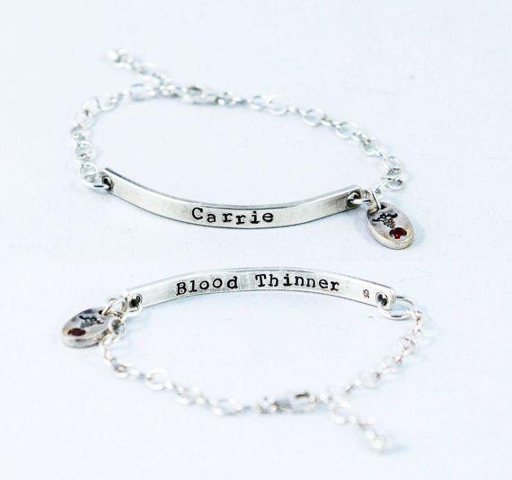 Medical Alert Bracelet and ID Bracelet by MyFineSilverDesigns