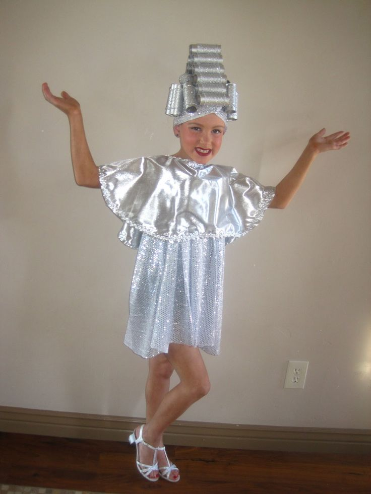 Beauty school dropout, grease costume Silver lamé and spray painted - school halloween costume ideas