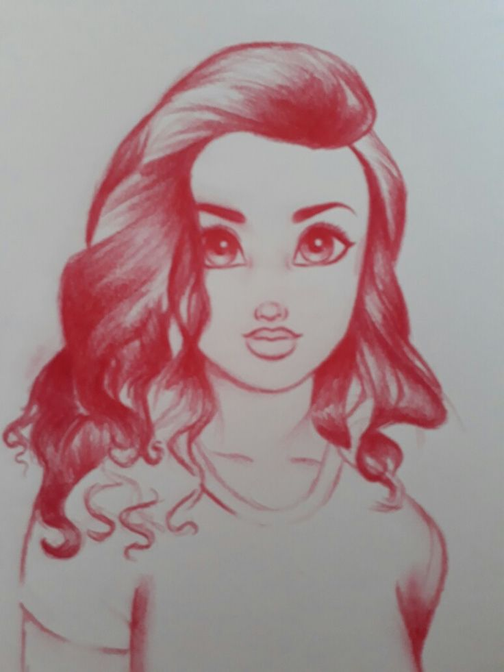 My drawing of a girl inspired by christina lorre's drawing.