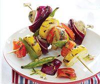 Vegetable Skewers: Grilled Veggies, Easy Grilled, Vegetarian Time, Vegetables Skewers, Grilled Vegetable Recipes, Grilled Vegetables Recipe, Stands Vegetables, Rosemary'S Dijon Vinaigrette, Farms Stands