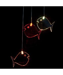 With fun acrylic shapes, these LED lights softly cycle through a spectrum of colours providing a soothing and gently stimulating light for the little ones. These battery operated lights can be hung anywhere.  Fish Mobile LED - Full colour cycle Code: MOFI RRP $39.95
