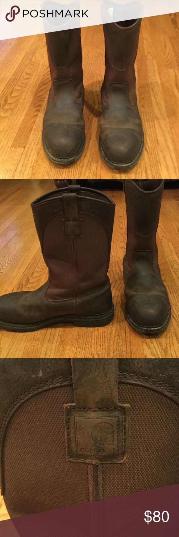 Carharrt Steel-toed boots Great condition, gently used! Leather steel toed. Carhartt Shoes Boots